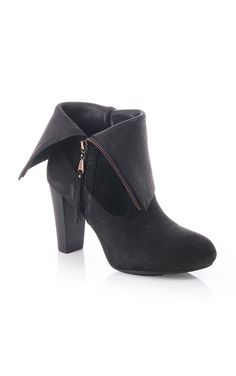 Ugg Australia Athena Leather And Suede High Heel Boot Black