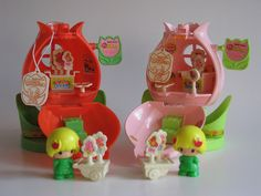 1978 koeda chan red and pink tulip playsets by Siri_Mae_doll, via Flickr