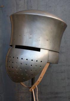 Templar knight helmet Transitional great helmet helm 12th
