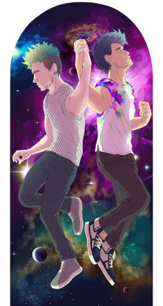 "violoncell0: ""[Not septiplier] space is cool I /friend/ ship them larger file: (x) "" DUDE! This is legitimately AMAZING! I love the colors, the details, the background and the aesthetic in general! This is beautiful :D <<"