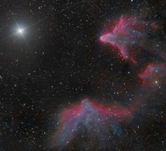 STARGAZING DUO CAPTURES SPECTACULAR NEBULA'S SHINING IN CASSIOPEIA Two nebula's beam from the constellation Cassiopeia in this spectacular image captured by veteran stargazers