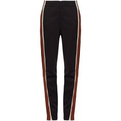 Wales Bonner Palms contrast-stripe track pants (4.195 ARS) ❤ liked on Polyvore featuring activewear, activewear pants, pants, bottoms, calças, jeans, sweatpants, black red, track pants and red sweat pants