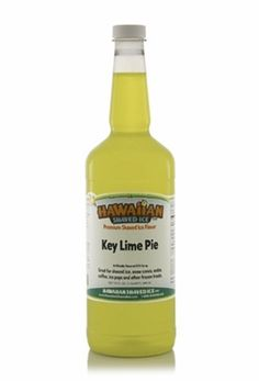 Key Lime Pie Shaved Ice and Snow Cone Syrup - Quart - Our key lime shaved ice syrup features the popular sweet tartness of limes but with the sugary creaminess of Key Lime pie. The lime green coloring is also a fun touch for both kids and adults!