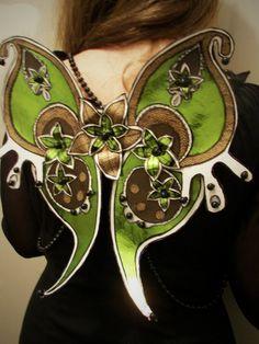 Green faerie wings