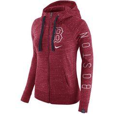 Nike Boston Red Sox Women's Heather Red Vintage Full-Zip Hoodie #redsox #mlb #boston