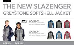 New Slazenger Softshell Jacket just released Our sensational new Slazenger Greystone Softshell Jacket is now in stock. Corporate Outfits, Corporate Gifts, Softshell, Spring Day, Jackets For Women, Let It Be, Promotion, Cold, Warm