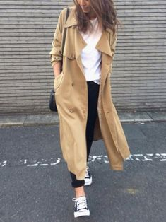 yukoさんのトレンチコート「【Lady like】テンセルロングトレンチコート(Ungrid|アングリッド)」を使ったコーディネート