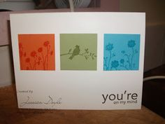Jess' Crafts: Stampin' Up! Silhouette Sentiments is beautiful for CAS Cards
