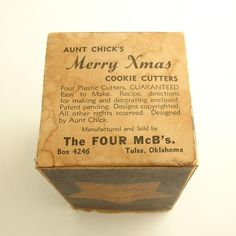 §§§ : Aunt Chick's Christmas Cookie Cutters