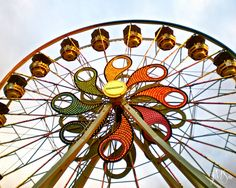 Carnival Photography  Hershey Park Ferris Wheel  Fine by sidorjam