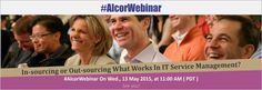 Book your seat for the webinar- why shouldn't you out-source It service management? http://www.alcortech.com/webinar-detail/