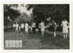 St Bernard de Clairvaux parish picnic in the 1960s (egg and spoon race).
