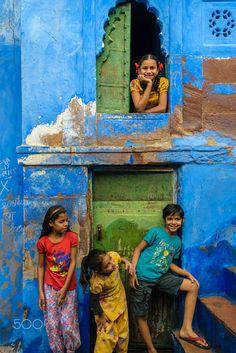 Kids in Brahmapuri, India