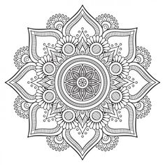 What is a mandala in Hinduism? What is the meaning of the mandala symbol in Hinduism? What is the spiritual significance of mandalas? Mandala Art, Mandala Design, Mandalas Painting, Mandalas Drawing, Mandala Coloring Pages, Mandala Pattern, Coloring Book Pages, Dot Painting, Mandala Tattoo
