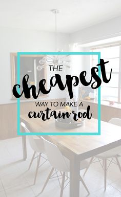 Wow! I love this idea and think spending $5 on a curtain rod is a lot better than $40! Saving for later.