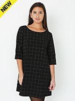 Grid Print Tent Dress