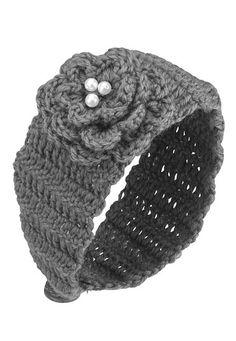 Knit  Flower Headband