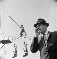 High Wire Act – 1948    Photograph by Stanley Kubrick for Look Magazine via VandM.com | Prints Available