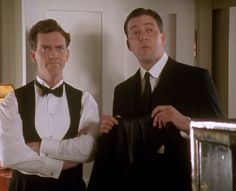 Jeeves and Wooster (1990-1993). Before Hugh Laurie became House with the whole world he played a less cynical being; Bertie Wooster, a happy, very British, bachelor who try to duck his aunt's marriage plans for him and trying to sort out his friend's problems with messy results. His new butler Jeeves has a lot to deal with, but he's a man of brains and skills. Funny, goofy humour based on the famous PG Wodehouse-books.