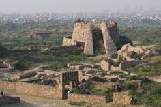 Tughlaqabad Fort ~ In 1321 AD, a man named Ghazi Malik assumed the title of Ghias-ud-din Tughlaq, and started the Tughlaq dynasty, which was a Turkic dynasty of Delhi, India. Upon taking control of the area, Malik became obsessed with building a massive fortification in the southern part of Delhi. He dreamed of a beautiful fortress that could keep away the Mongol marauders.