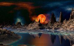 Alien mountains wallpaper