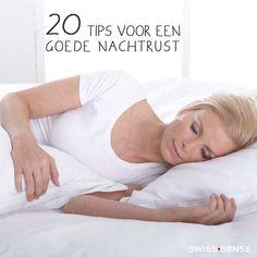 20 tips voor een goede nachtrust | SwissSense.nl