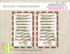 Christmas Printable Handout | Mormon Mommy Printables