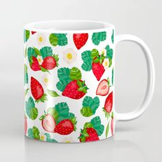 Buy Comical strawberry seamless pattern. Stylish pattern. Strawberry. Coffee Mug by Is_Autumn. Worldwide shipping available at Society6.com. Just one of millions of high quality products available. Meet The Artist, Drinkware, Anastasia, Coffee Mugs, Strawberry, Autumn, Ceramics, Stylish, Artwork