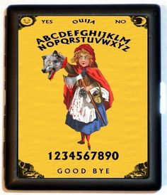 Little Red Riding Hood Cigarette Case Ouija Little Red Gets Revenge Twisted Fairytale Horror ID Business Card Credit Card Holder Wallet