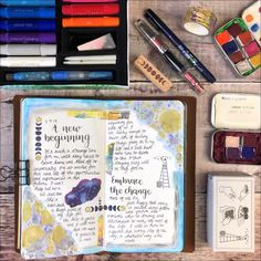 A quick and messy 😅 spread in my journal. I hope you enjoy it 💕 journal travelersnotebook mixedmedia 557320522639416370 Album Journal, Bullet Journal Notebook, Bullet Journal Ideas Pages, Scrapbook Journal, My Journal, Bullet Journal Inspiration, Art Journal Pages, Scrapbook Cover, Vision Journal Ideas