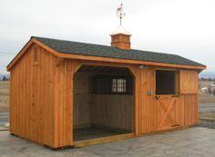 10x20 Horse Barn - Wood-Tex Products   | Nice Run-in