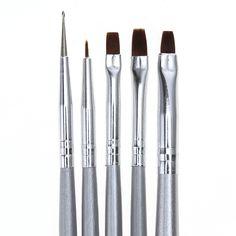 5pcs/Set Nail Art Brush Design Painting Drawing Liner Brushes Manicure Dotting Pen Tool Nail Art DIY Decoration Tools M03345