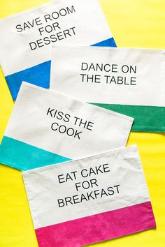 DIY Kate Spade Inspired Placemats! Make your own Kate Spade inspired placemats - make a set of 4 for the price of one!