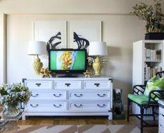 VINTAGE & CHIC: decoración vintage para tu casa · vintage home decor: Un pequeñísimo apartamento decorado en verde y blanco (y un blog muy i...