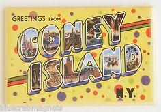 Greetings from Coney Island FRIDGE MAGNET new york travel souvenir