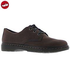 Dr.Martens Mens Andre Dark Brown Leather Shoes 45 EU (*Partner-Link