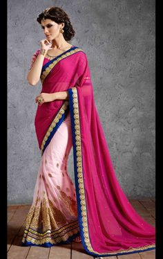 Picture of Mystical Magenta and Pink Latest Saree