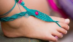 tutorial sandalia descalza en macramé                                                                                                                                                      Más