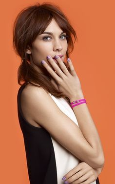 Alexa for Agatha Paris Fashion Icon Collection Nails nailart sweet alexa chung bracelet with slide charm