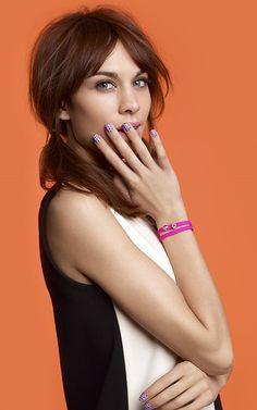 Alexa for Agatha Paris Fashion Icon Collection Nails nailart sweet alexa chung bracelet with slide charm