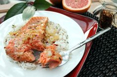 Salmon-in-Grapefruit-Marinade - tented in foil