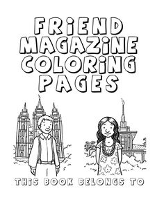 lds coloring pages. great idea for a quiet coloring book in sacrament
