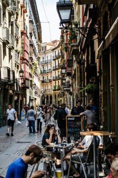 Bilbao Siete Calles Old town Casco Viejo Vizcaya Spain June 2018 Oh The Places You'll Go, Great Places, Places To Travel, Places To Visit, Madrid, Magic Places, Barcelona, Basque Country, Spain And Portugal