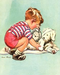 Little Veterinarian Vintage Artwork - this would be nice to hang up in the clinic