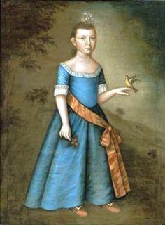1760 Joseph Badger (American colonial era artist, 1708-1765) Jemima Flucker