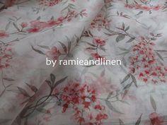 """silk fabric, floral print Silk Organza, one yard by 41"""" wide"""