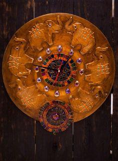 """Часы """" Старая Индия""""."""