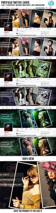 Portfolio Twitter Profile Cover - Twitter Social Media