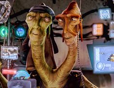 star wars:  The Troigs were a multi-headed, from the phantom menace