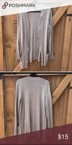Premise size L long grey cardigan with pockets Premise size L long grey cardigan with pockets Premise Sweaters Cardigans
